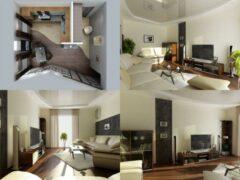 Готовые практические решения для дизайна квартир небольшой площади