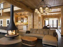 Интерьер деревянного дома из бруса внутри: фото и описание стилевых решений
