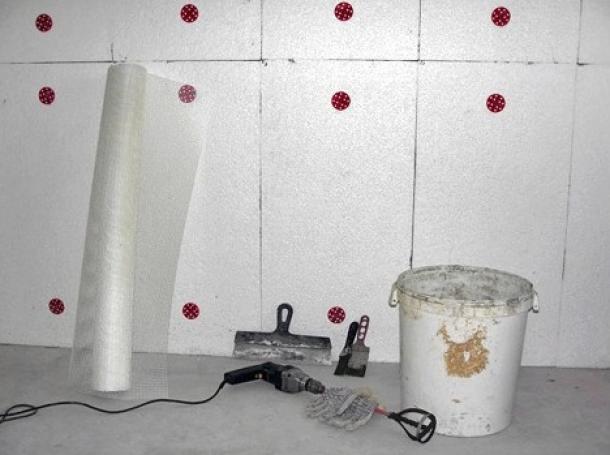 Утепление стен пенополистеролом