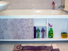 Установка экрана под ванну своими руками
