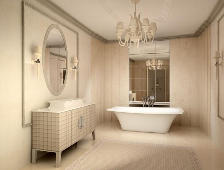 Арт Деко в ванной комнате