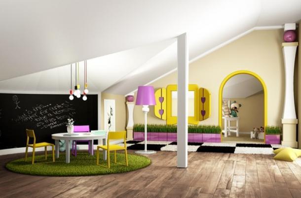 Детская комната из мансарды