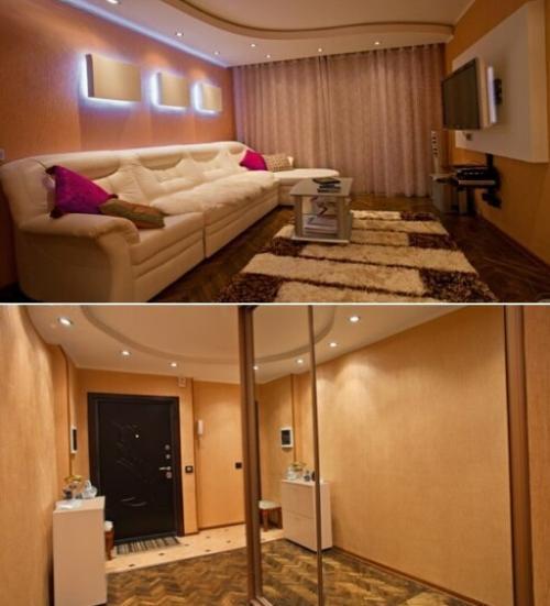 Дизайн коридора и жилой комнаты хрущевки