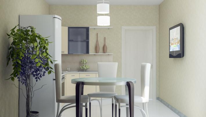 Кухня: вид со стороны окна