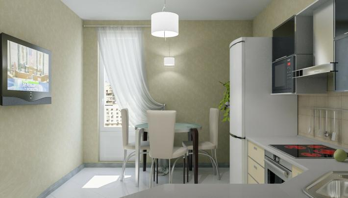 Кухня: вид со стороны двери