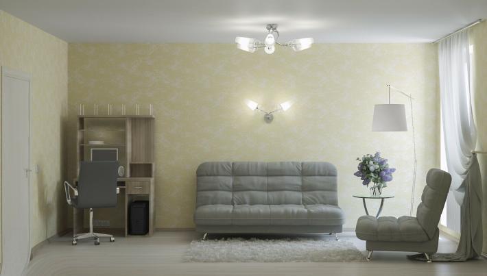Интерьер гостиной: стена слева