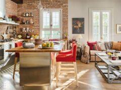 Гостиная, совмещенная с кухней: фото лучших интерьеров