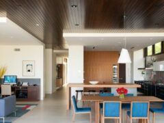 Двухуровневые потолки для гостиной из гипсокартона, фото в интерьере
