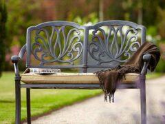 Металлические садовые скамейки своими руками: чертежи и фото конструкций