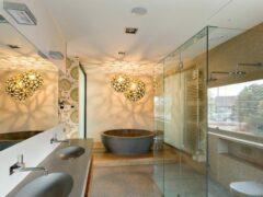 Освещение в ванной комнате, фото различных вариантов