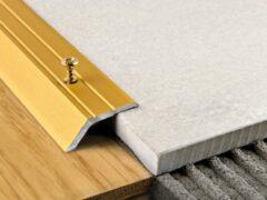 Порожек для плитки и ламината: как правильно положить его между покрытиями