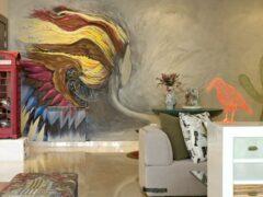 Роспись стен в интерьере: необычное решение в современной квартире