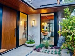 Фото входных дверей в частный дом из различных материалов