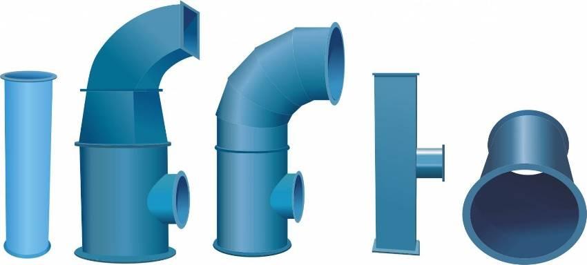 Монтажные элементы пластиковой вентиляционной системы