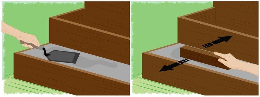Каждая ступень бетонируется за один раз, без прерываний