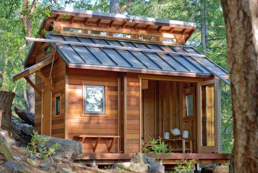 Пример маленького домика, предназначенного для отдыха