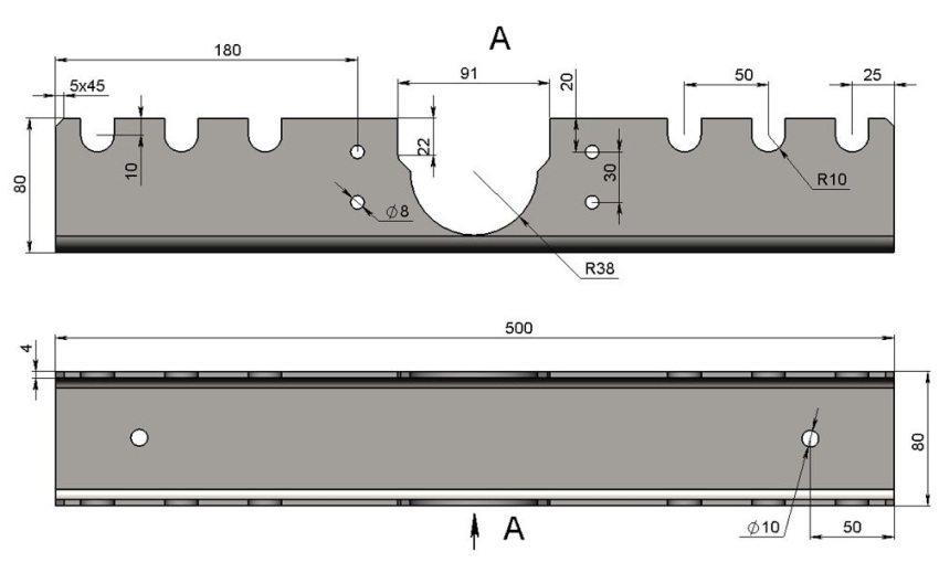 Шаг 1: создание основания трубогиба из стального швеллера 80х80х4