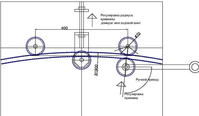Гидравлический трубогиб для сгибания водо- и газопроводных труб под углом до 90°