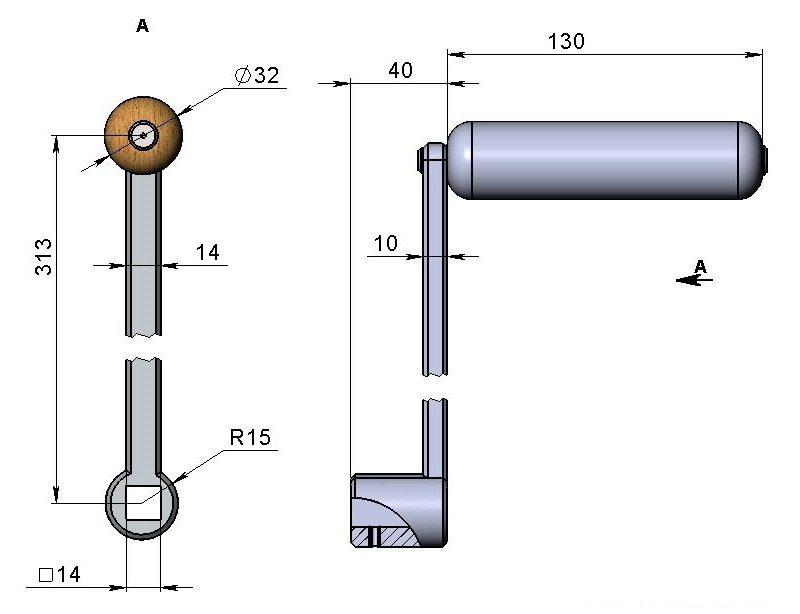 Шаг 4: изготовление поворотной ручки центрального ведущего ролика