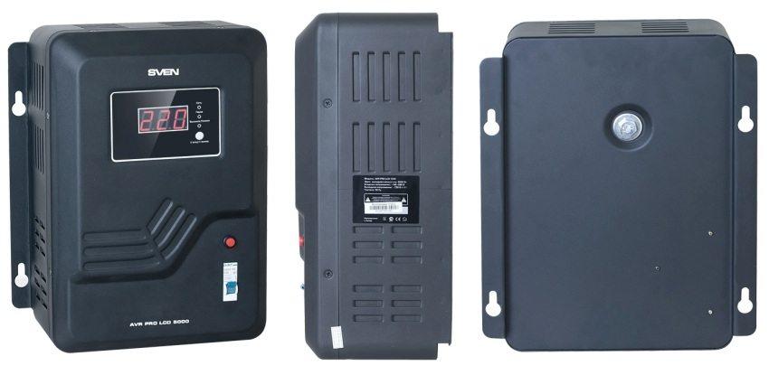 Настенный стабилизатор напряжения SVEN AVR PRO LCD 5000