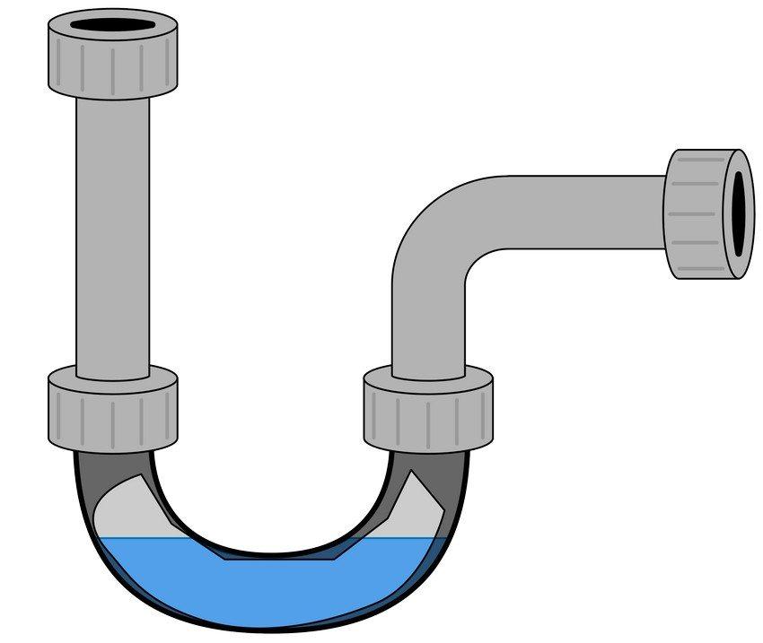 Сифон задерживает часть воды – это не позволяет неприятному запаху попадать в помещение через сливное отверстие