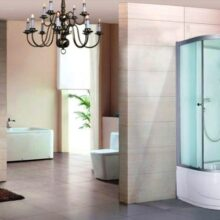 Угловая душевая кабина 90х90 с высоким поддоном: оптимальный вариант для ванной