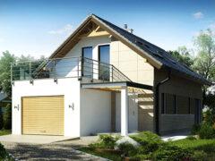 Проекты домов с мансардой и гаражом: различные вариации построек