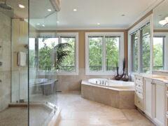 Стеклянная перегородка для душа: красивое и функциональное оформление ванной