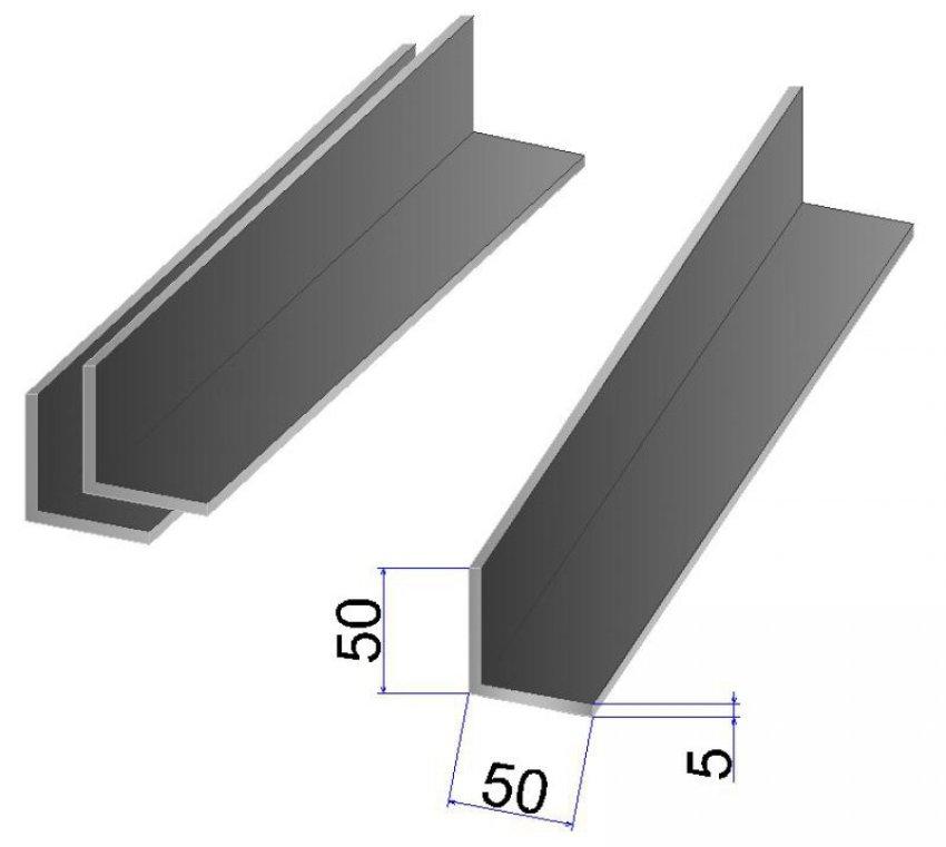 Для уголков 50х50х5 допускаются погрешности по толщине в пределах от 0,3 до 0,5 мм