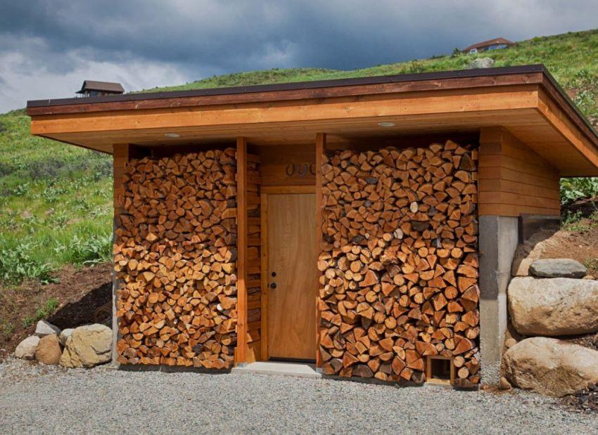 Основным материалом, который применяется при возведении поленниц, является древесина