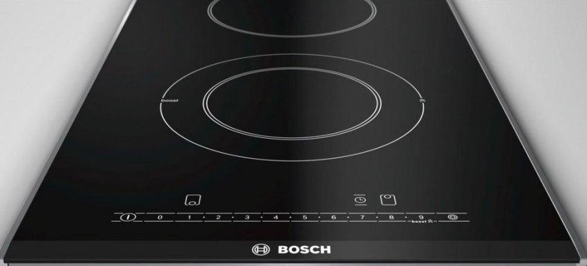 Плита Bosch PKF375FP1E отличается стильным внешним видом и оригинальным дизайном