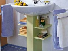 Как спрятать сифон под раковиной в ванной — интересная идея