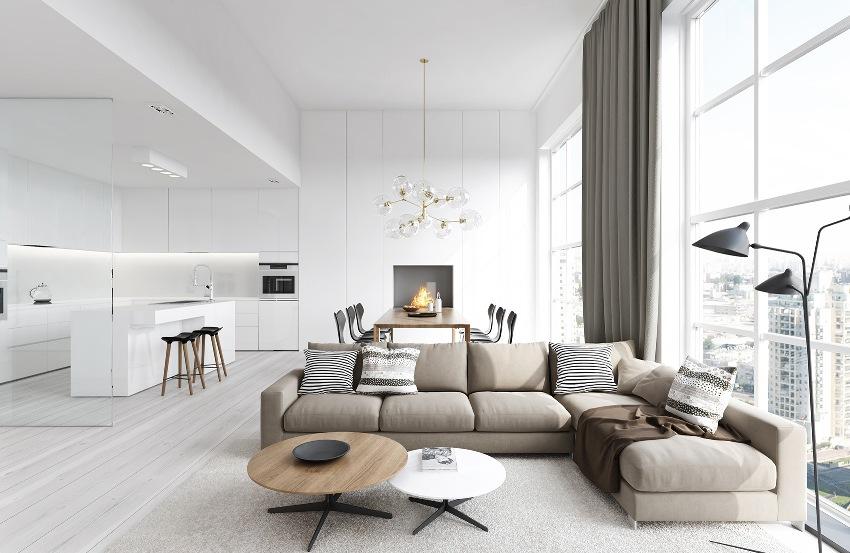 Современный стиль гостиной – это оригинальный микс таких стилей как минимализм, модерн, хай-тек, поп-арт и ретро