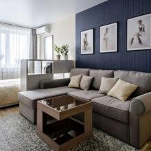 Гостиная и спальня в одной комнате: идеи оформления комфортного пространства
