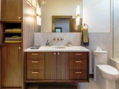 Шкаф в туалет: удобный способ скрыть все необходимое