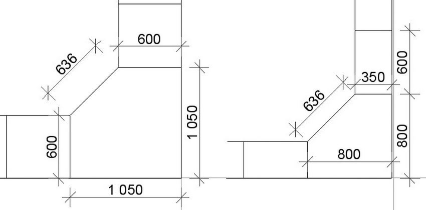 Самые распространенные габариты – это угловой шкаф 60х60 см