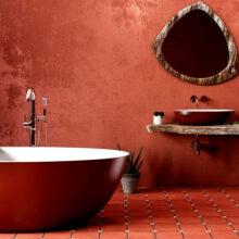 Цветные акриловые ванны: оригинальные изделия для стильной ванной комнаты