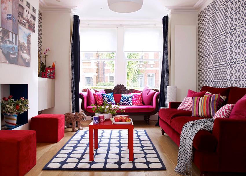 Диван в гостиной не должен занимать слишком много пространства