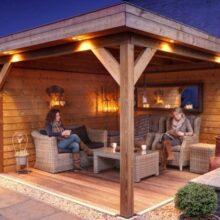 Беседка из бруса: практичное строение садовой архитектуры