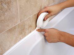 Бордюрная лента для ванной: простой, но надежный способ герметизации стыков