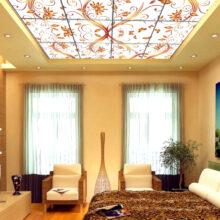 Натяжной потолок с подсветкой: нарядное убранство элемента помещения