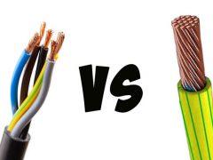 Чем отличается кабель от провода – многожильный или одножильный какой лучше.