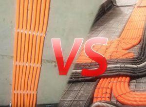 Электрика по полу или потолку – 3 причины за и против. Что дешевле и дороже. Правила монтажа кабеля по полу.