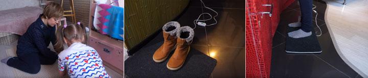 разные способы применения электрогрелок и ковриков с подогревом