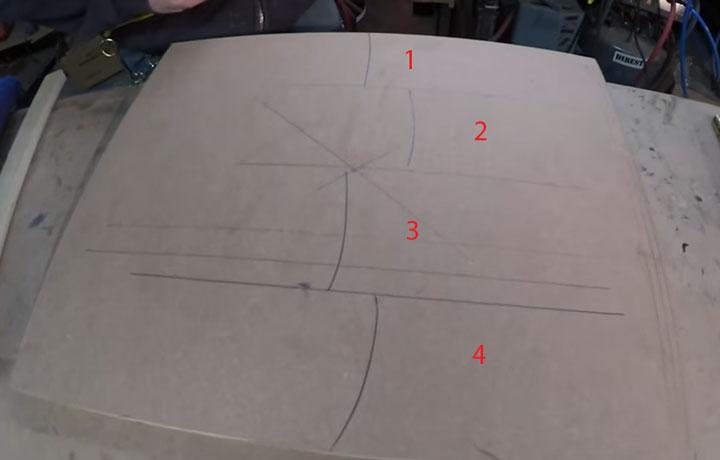 как рулеткой поделить на равные части
