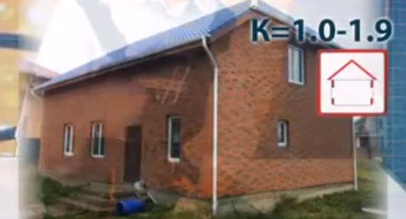 коэффициент для тепловой пушки и прогрева зданий в два кирпича