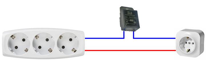 схема подключения блока плавного пуска инструмента в обычную розетку