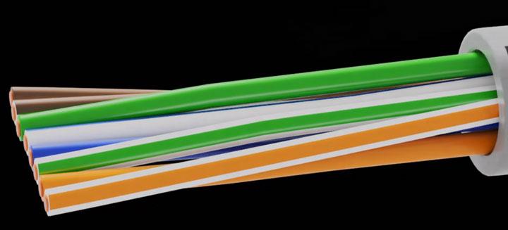 кабель utp перед подключением в патч корд