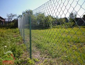 сетка рябица на заборе