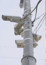 уличные камеры на опорах